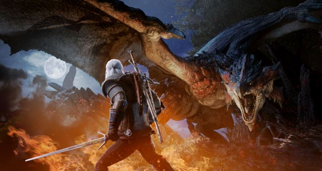 Monster Hunter World: prossimo mese arriva Geralt di Rivia.